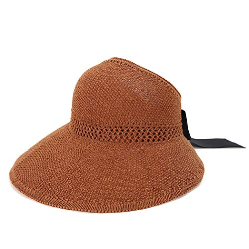 ZOYLINK Wide Brim Hat Sonnenhut UV Schutz Stroh Eimer Hut Sommerhut für Frauen