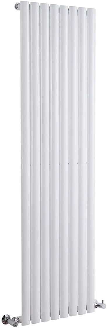 Termosifone con finitura bianca - design a colonna - 1600 x 472 x 56mm - 1122w - riscaldamento ad acqua calda RE1600472VWS