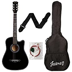 Juarez 038C Acoustic Guitar With Kit And Bag - Best Guitar For Beginners In India