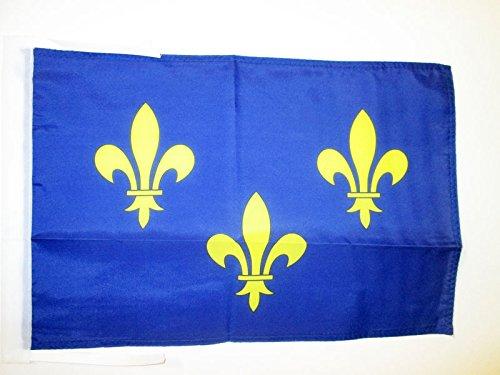 AZ FLAG Flagge ILE-DE-France 45x30cm mit Kordel - Paris Fahne 30 x 45 cm - flaggen Top Qualität