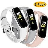 KIMILAR Correa Compatible con Samsung Galaxy Fit E 2019 [3 Pack] Correa de Recambio Silicona, Reemplazo de Banda de la Muñeca Pulseras de Repuesto para Samsung Galaxy Fit E Smartwatch