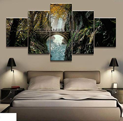 5 Canvas Schilderijen De Heer Van De Ringen Film Poster Muur Voor Huis Canvas