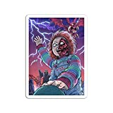 BreathNenStore Sticker Motion Picture Based On Child's Play 3 The Ending Scene at 'The Devil Movies Video Film 788452 (3' x 4', 3 PCS/Pack)