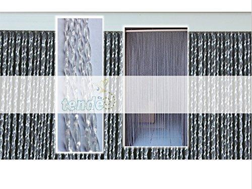 Cirillo Tende PVC-Türvorhänge Modell Roma – Aluminiumträger - Made in Italy - Eichmaß (95X200/100X220/120X230/130X240/150X250) – Fliegenvorhang (100X220, Transparent (2))