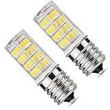 E17 LED Bulb, Microwave Oven Light 5 Watt Daylight White 6000K dimmable 52x2835SMD AC110-130V (Pack of 2) (Daylight White 6000K)
