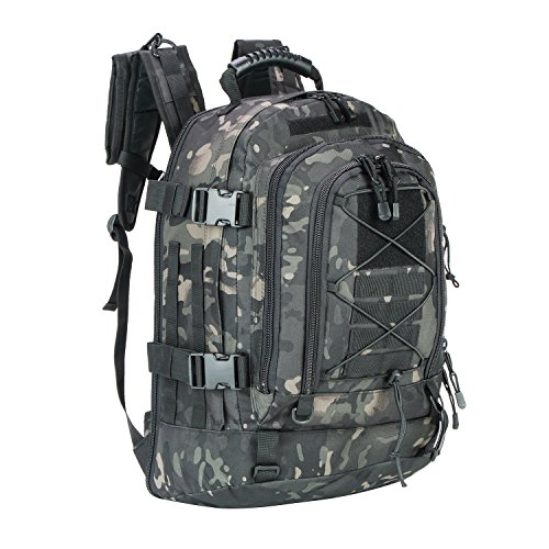 WolfWarriorX Military Tactical Assault Backpacks 3-Day Expandable Waterproof Water Resistant Molle Rucksack Camo Bug Out Backpack Outdoors, Camping, Hiking, Trekking Daypack