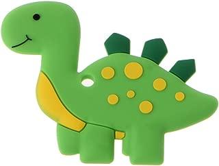 Biuuu 恐竜の赤ちゃんTeethersペンダントネックレスアクセサリーBPAの無料シリコンチュウのおもちゃ