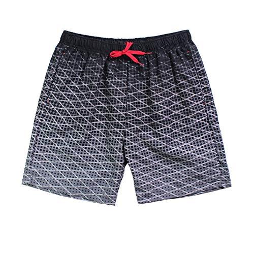 Preisvergleich Produktbild Liuzecai Herren Strand Shorts Männer Badehose Badeshorts mit Taschen Sommer lose Shorts (Color : Black,  Size : L)