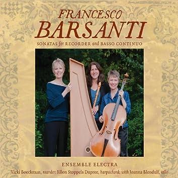 Francesco Barsanti Sonatas for Recorder and Basso Continuo