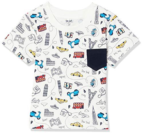 Camiseta Cidades, Tip Top, Meninos, Neve - Off White, 2T
