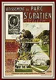 PostersAndCo TM Laufstall / Kunstdruck, 60 x 80 cm, Vintage/Retro, (BR*)