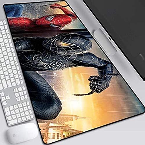ZDVHM Gaming Mouse Pad étendu The Avengers Spiderman Anime surdimensionné Clavier Tapis de Souris café Tapis Anti-dérapant Jeu Tapis de Souris étanche for PC de Bureau Home Office Table Tapis Souris