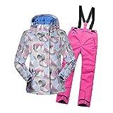 LSERVER Veste de Ski Enfant Filles Vêtement de Neige Epaisse Pantalon de Ski Blouson...