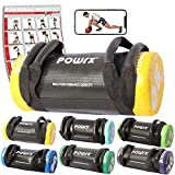 POWRX Power Bag I 5-30 kg I Kunstleder Fitness Bag für Functional Fitness (5 kg Schwarz/Gelb)