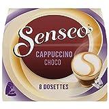 Senseo Gourmands Cappuccino Choco 8 dosettes de 92 g - Lot de 5 (40 dosettes)