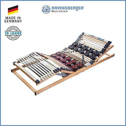 Ravensberger Matratzen DUOMED Lattenrahmen in verschiedenen Größen (140 x 200 cm, Buche Kabel-Fernbedienung)