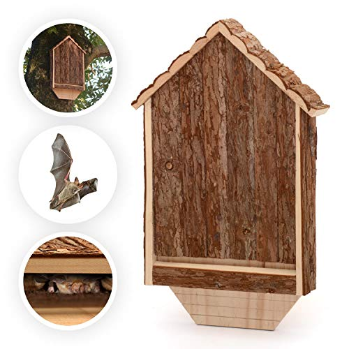 CKB LTD - Casa de murciélagos de madera para exteriores (30,5 x 6,5 x 46,5 cm)