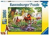 Ravensburger- Wildpferde Am Fluss Puzzle de 300 Piezas, Color Amarillo (12904)