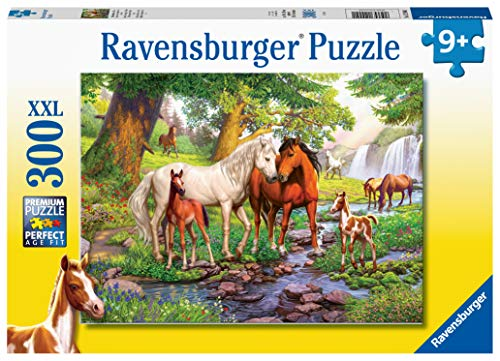 Ravensburger 12904 Horses by The Stream 300 Piece Puzzle for Kids - Every Piece is Unique, Pieces Fit Together Perfectly
