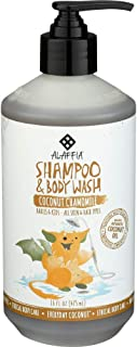Alaffia Everyday Coconut Shampoo and Body Wash - Babies and Kids, Gentle and Non-Irritating Support for Soft Hair and Skin with Yarrow and Chamomile, Fair Trade, Coconut Chamomile, 16 Ounces