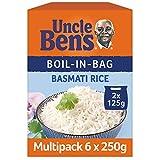Uncle Bens Boil In Bag Basmati Rice, Bulk Multipack 6 x 250 g boxes (Total 12 bags, 2 portions per bag)