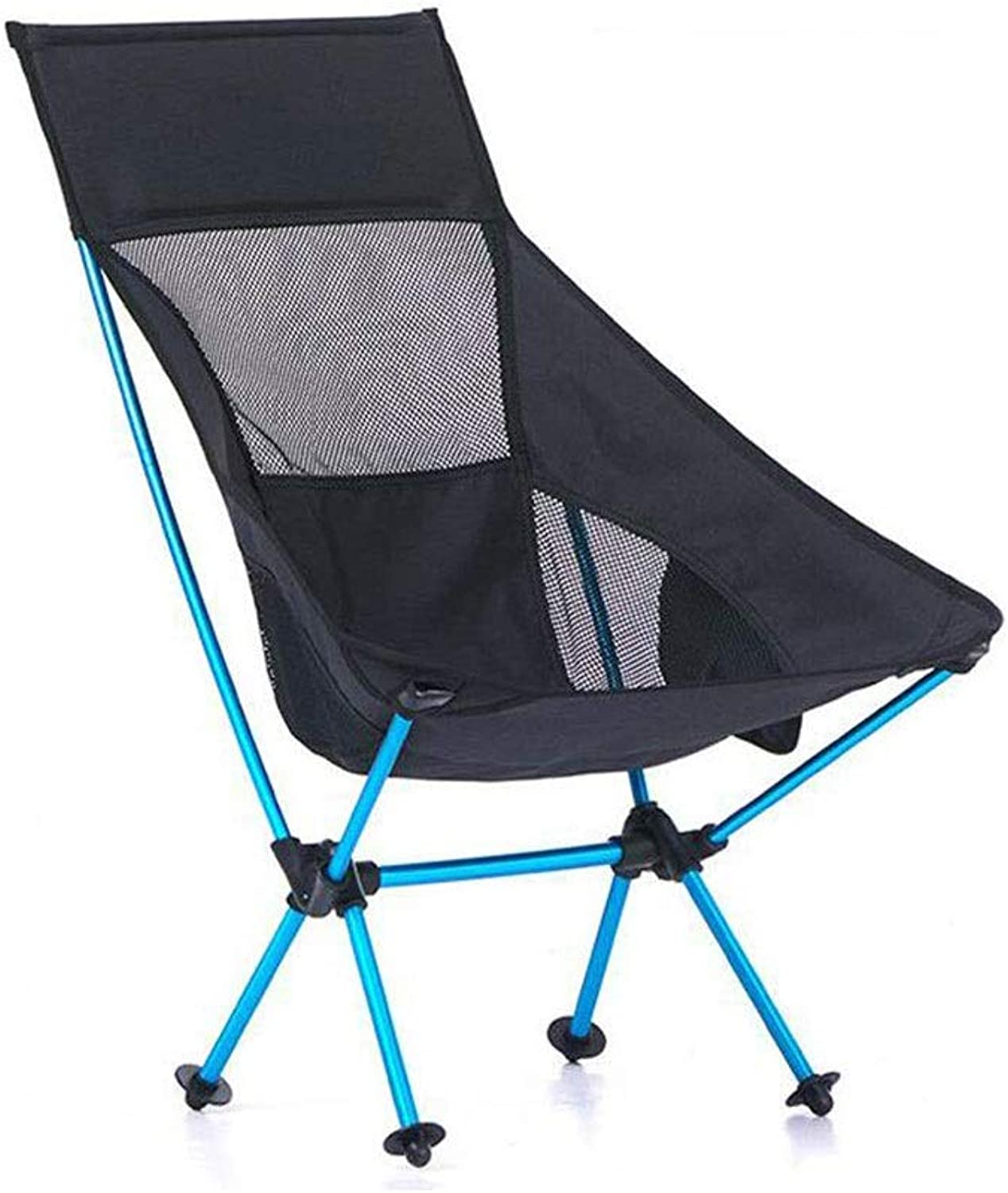 LZRDZSW High and Folding Director Chair,Outdoor Portable Ultra Light Folding Chair Fishing Leisure Chair Stool Sketch Chair Beach Chair ChairsStructure,Comfortable High Back Design (color   Black)