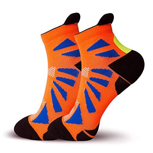Deportes profesionales que absorben los calcetines secos rápidos maratón calcetines de compresión calcetines de baloncesto Naranja
