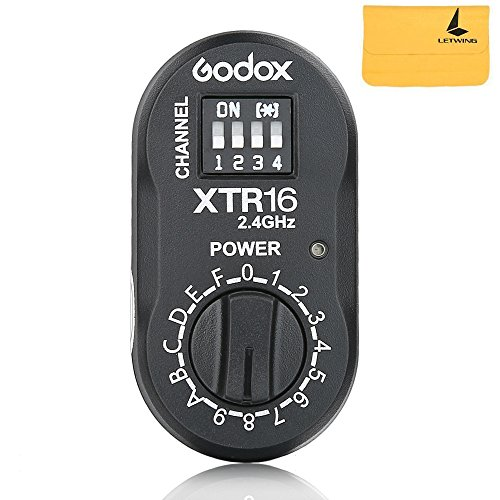 Godox XTR-16 Wireless 2.4G Remote Control Flash Receiver for Godox Witstro outdoor flash, Quicker, Quicker D, QT, QS, Gemini GT, Gemini GS, DE, and DP series Studio Flashes