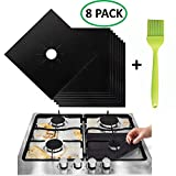 Gas Range Protectors Countertop Accessories for Kitchen Reusable, Non Stick, Dishwasher Safe, Heat
