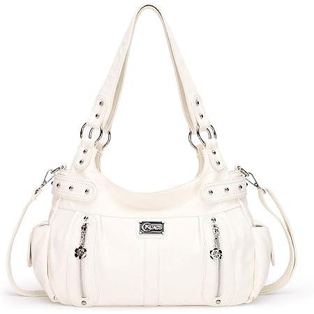 KL928 Tasche Damen Handtasche Umhängetasche shopper damen Henkeltaschen Damenhandtasche damentasche Lederhandtasche Hand Taschen für frauen (white)