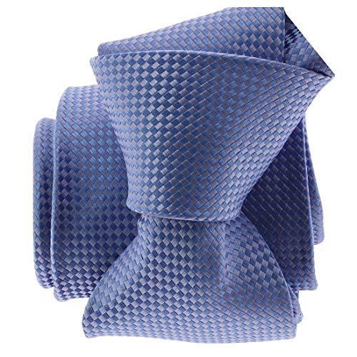 Clj Charles Le Jeune. Cravate. ROMEO, Microfibre. Bleu, Uni.