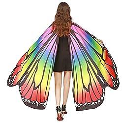 Yizhiwu Butterfly Wings Shawl Fairy Ladies Dance Costume Accessory