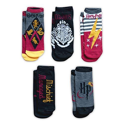 HARRY POTTER Color Adult Ankle Socks - 5-Pack