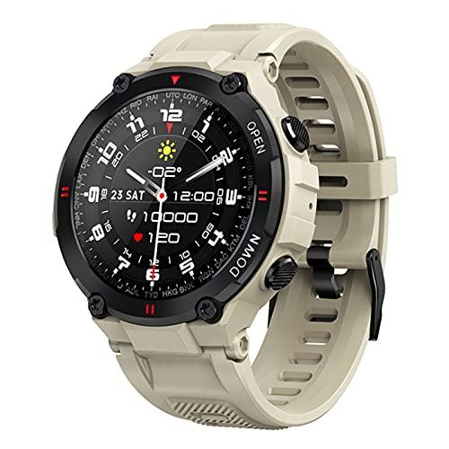 New Smart Watch Men Sport Fitness Bluetooth Call Multifunción Control Música Control De Reloj Despertador Smartwatch para Teléfono(Color:Plata)