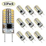 G8 LED Bulb Dimmable, Bi-pin T4 G8 Base, 3W Mini G8 Bulb Equivalent to 20W-25W Xenon Halogen Bulb, 120V Warm White 3000K Light Bulbs for Under Counter Kitchen Lighting, Under-Cabinet Light (10 Pack)