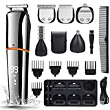 Beard Trimmer Hair Clippers Trimmers for Men,All in One Cordless Nose Hair Trimmer Grooming Shaver Kit Rechargeable for Mens Face Body Eyebrow Mustache Nose Hair