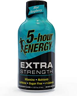 5-hour ENERGY Shot, Extra Strength Blue Raspberry, 1.93 Ounce, 24 count