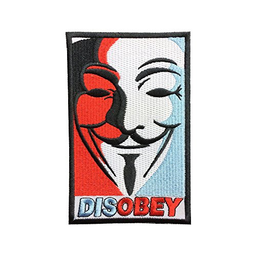 V for Vendetta Patch Disobey Hat Patches Embroidered Iron on Patches sew on Patches