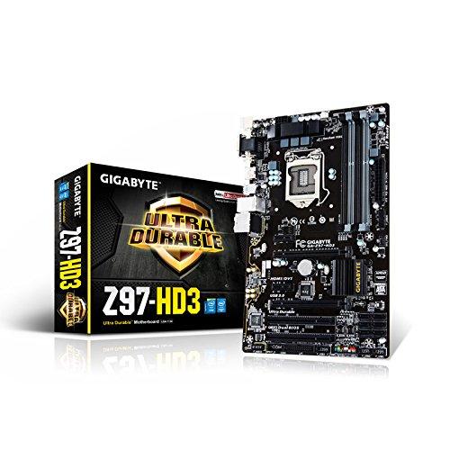 Gigabyte GA-Z97-HD3 Motherboard (ATX VGA, SND, GLN, U3 SATA, 6GB, DDR3 Speicher)