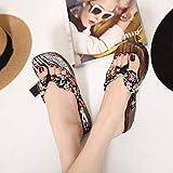 FYSY Antideslizante Suave Cubierta Zapatillas de casa, señoras estorba, Zuecos de Flip-Flop Sandalias Negras Altas 4CM_39, Zapatos de la Piscina de Agua fangkai77