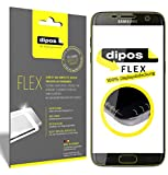 dipos I 3X Protector de Pantalla Compatible con Galaxy S6 Edge - Cobertura 100% Compatible con Pantalla - láminas Protectoras