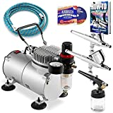 Best Airbrushes - PointZero Airbrush Dual Action Airbrush Kit with 3 Review