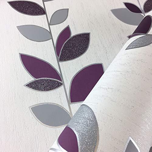 Synergy Leaf behang glitter Sparkle luxe gestructureerd vinyl 4 kleuren