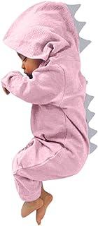 BeautyTop Baby Kinder Langarm Dinosaurier Overall Baby Mädchen Jungen Cute Strampler mit Kapuzen Baby Unisex Outfits Herbst und Winter Kinderkleidung