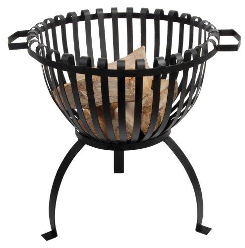Esschert Design Feuerkorb, Feuerstelle in Tulpenform, aus feuerfestem Metall, rund, Ø 42cm, 54 cm hoch