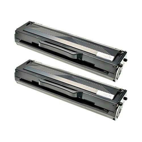 2 Toner kompatibel für Samsung ML-2165W SCX-3405W ML-2160 ML-2164W SCX-3400F SF-760P - MLT-D101S/ELS - Schwarz je 1500 Seiten