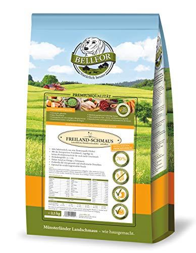 Bellfor - Freiland-Schmaus Huhn. 100% Getreidefreies Natürliches Hundetrockenfutter 2,5 kg