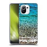 Head Case Designs Olas del Mar Transparente Playa de Belleza Carcasa de Gel de Silicona Compatible con Xiaomi Mi 11