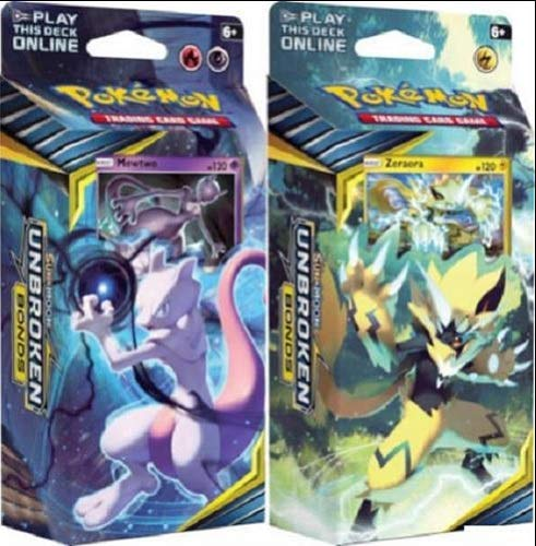 in budget affordable Pokemon Sun & Moon Unbroken Bond Mewtwo & Zeraora Theme Deck