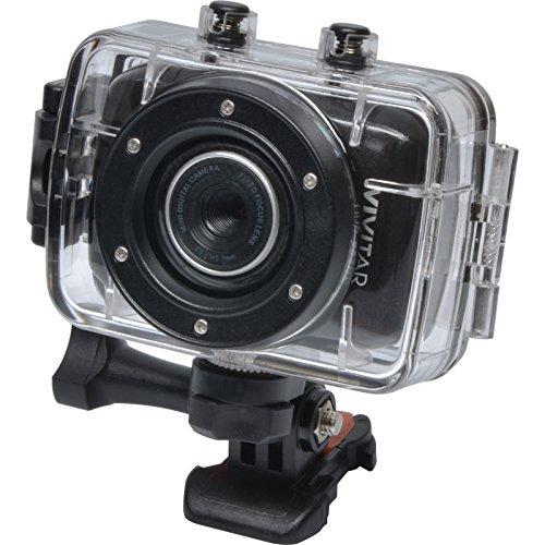 Vivitar DVR783HD HD Waterproof Action Video Camera Camcorder (Black) with Helmet & Bike Mounts